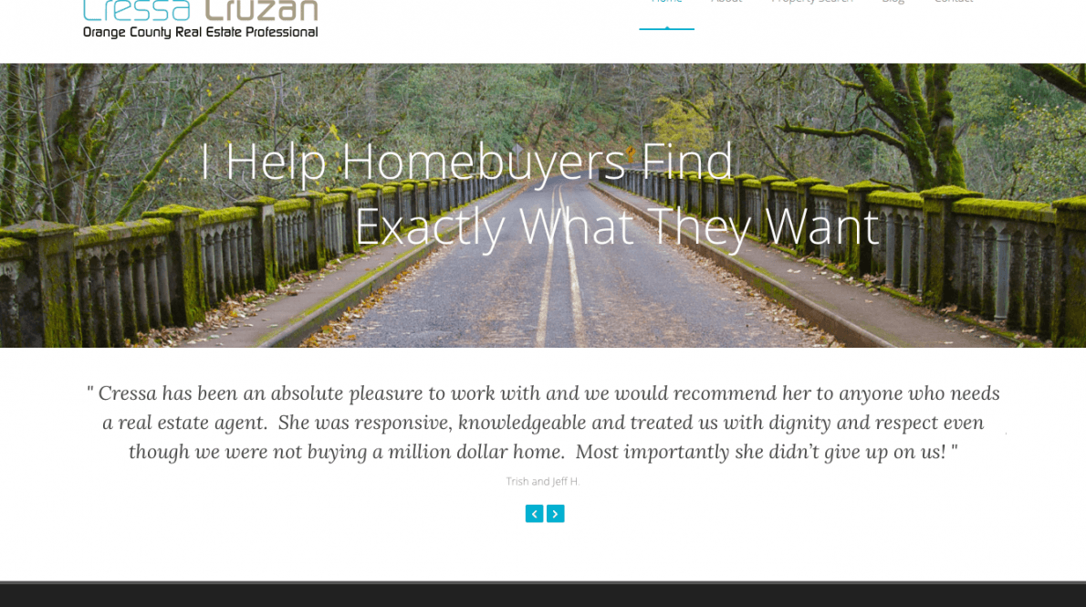 Website Design & Development – Cressa Cruzan Real Estate