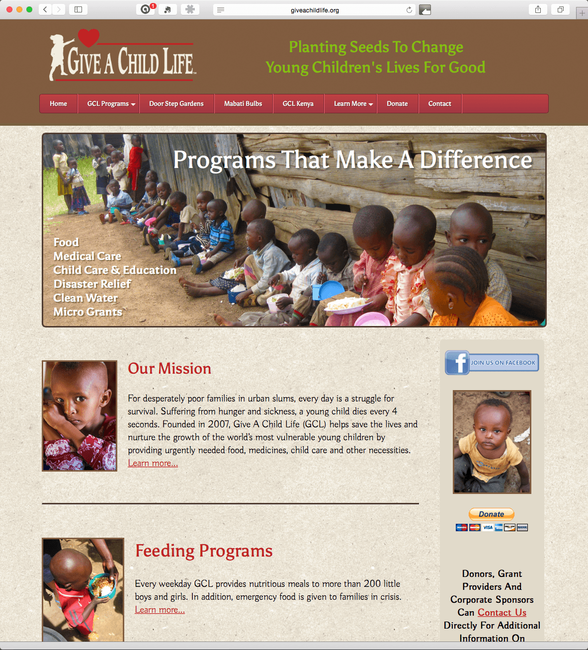 Website Design & Development – Give A Child Life