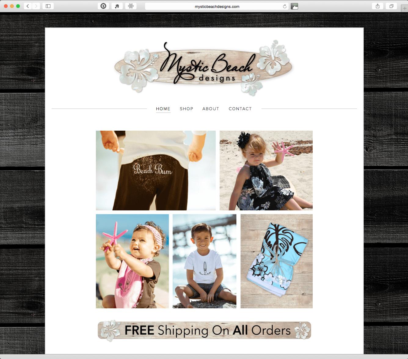 Website Design & Development – Mystic Beach