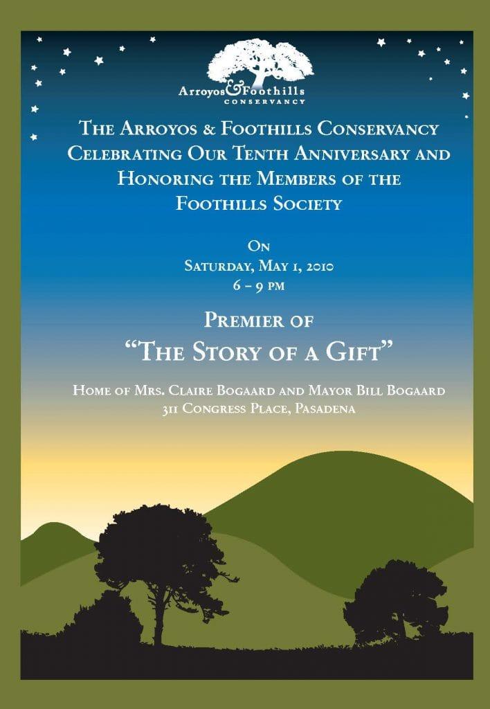 Brochure Design & Production – Arroyos & Foothills Conservancy