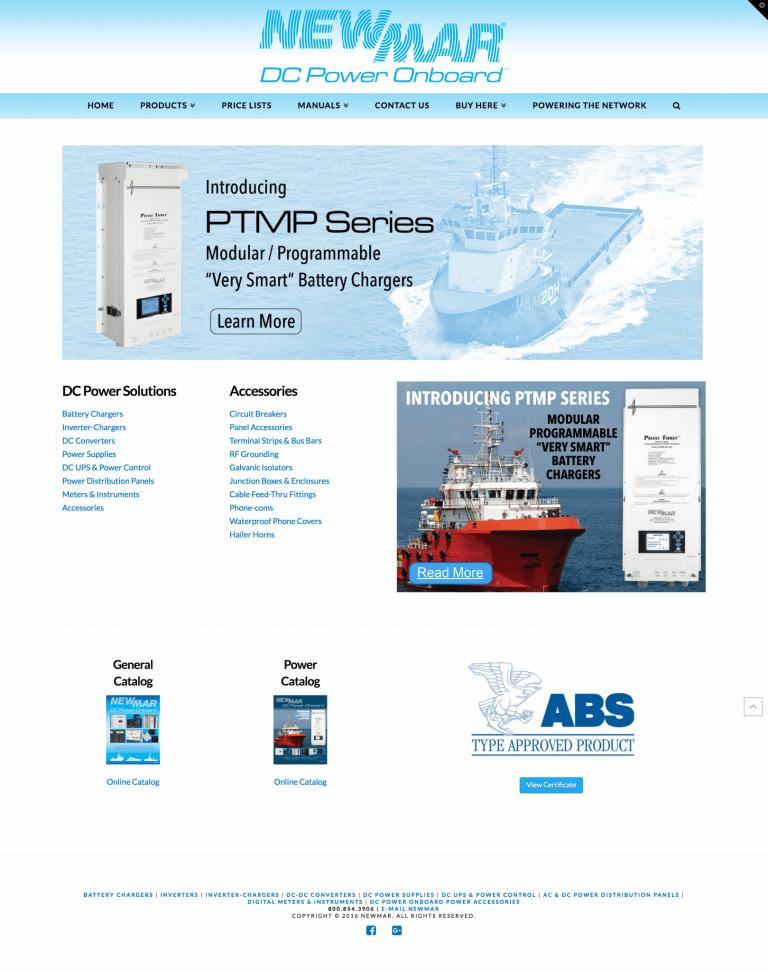 Website Design & Development – Newmar