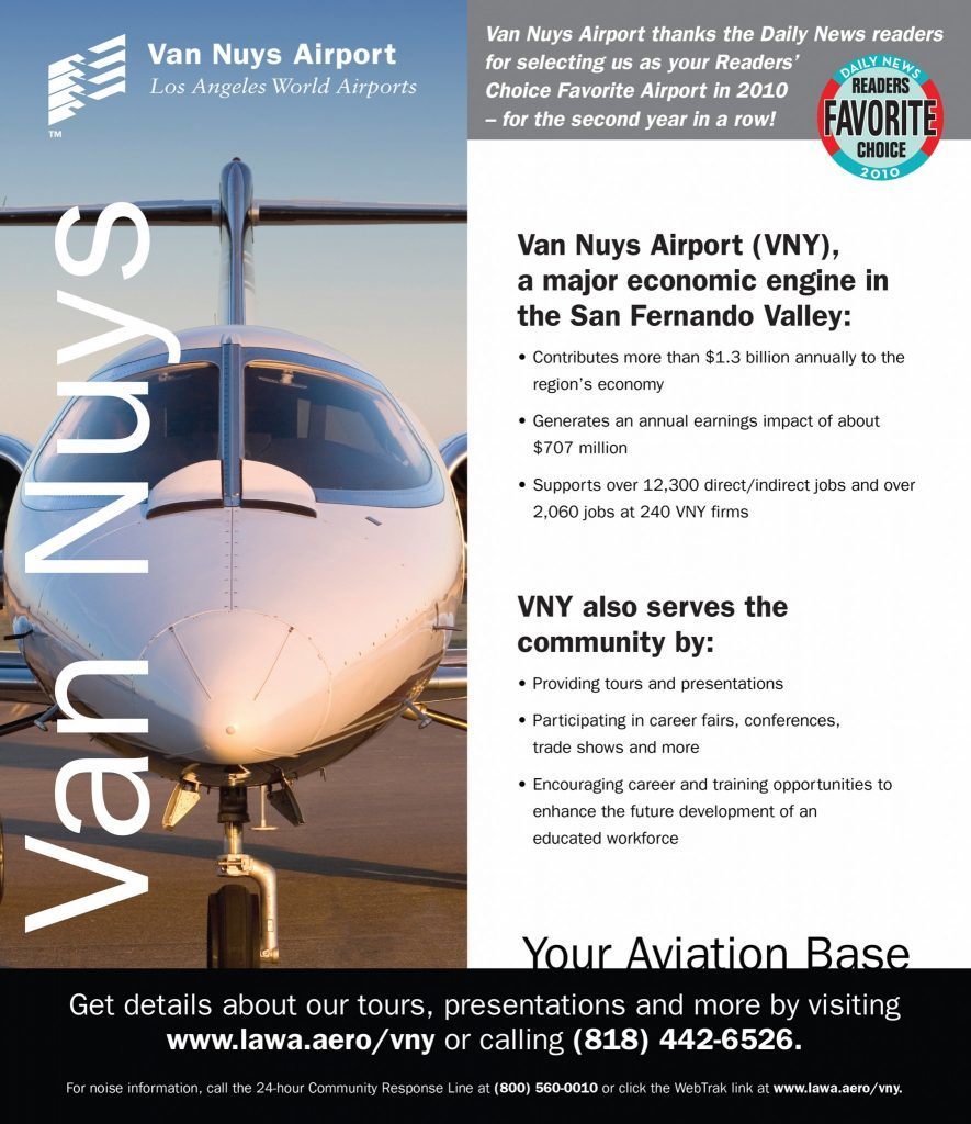 Brochure Design & Production for Jovenville – Van Nuys Airport