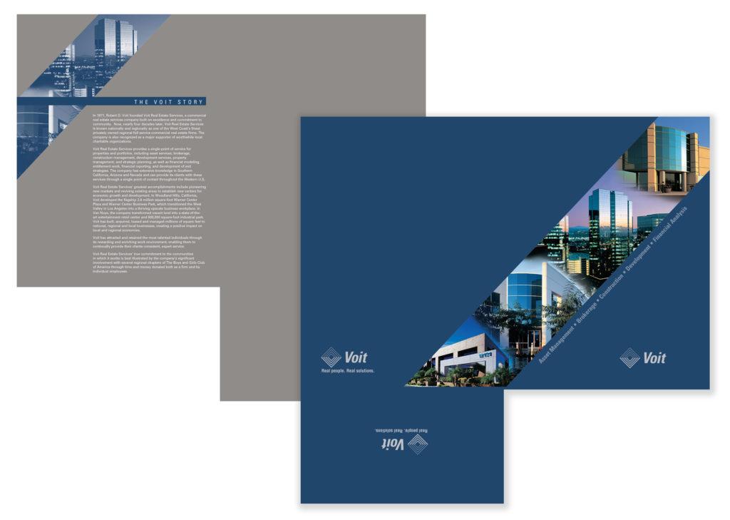 Presentation Folder Design & Production for Brower, Miller & Cole – Voit