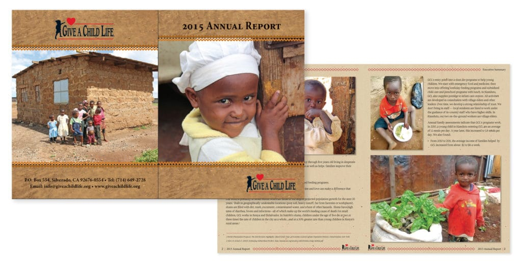 Annual Report Design & Production – Give A Child Life