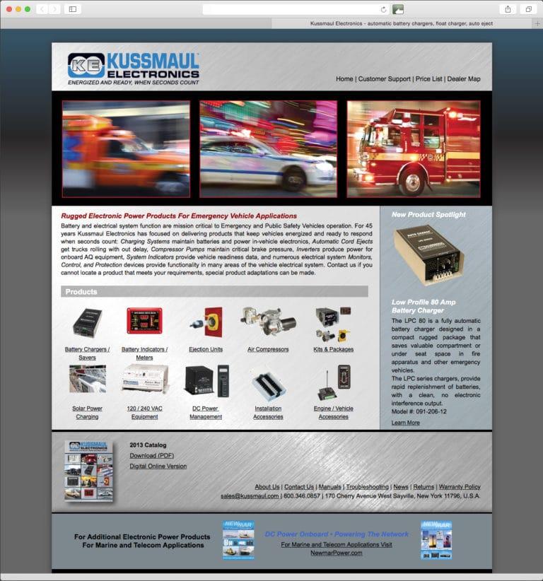 Website Design & Development – Kussmaul Electronics