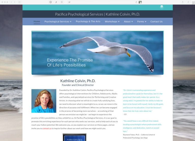 Website Design & Development – Pacifica Psychological Services