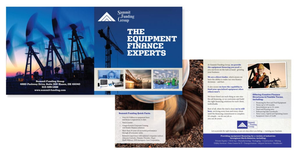 Brochure Design & Production – Brower, Miller & Cole for Summit Funding