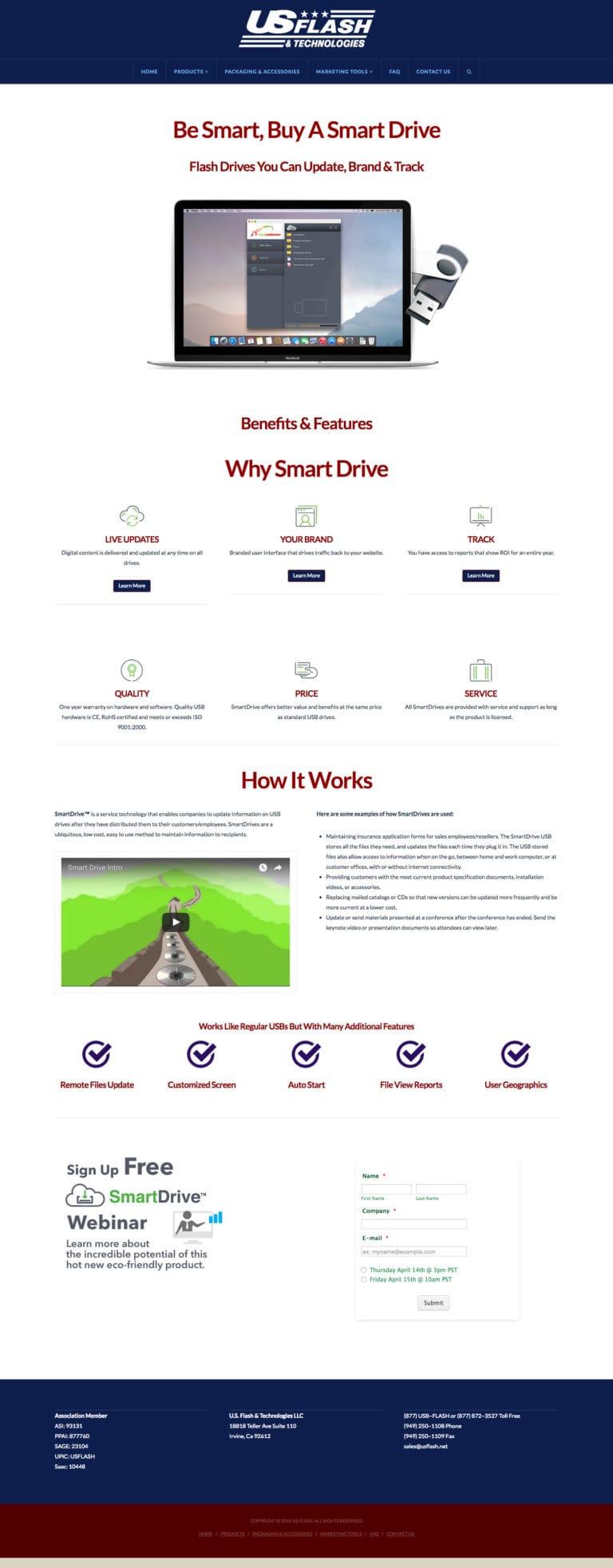 Web Design & Development – US Flash