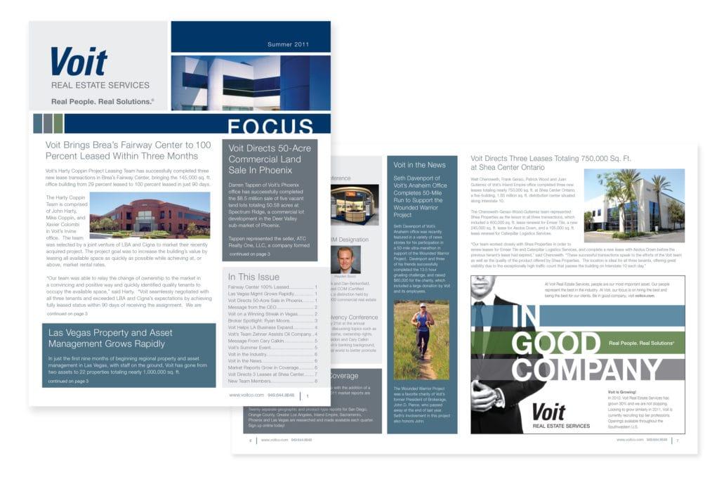 Newsletter Design & Production – Voit