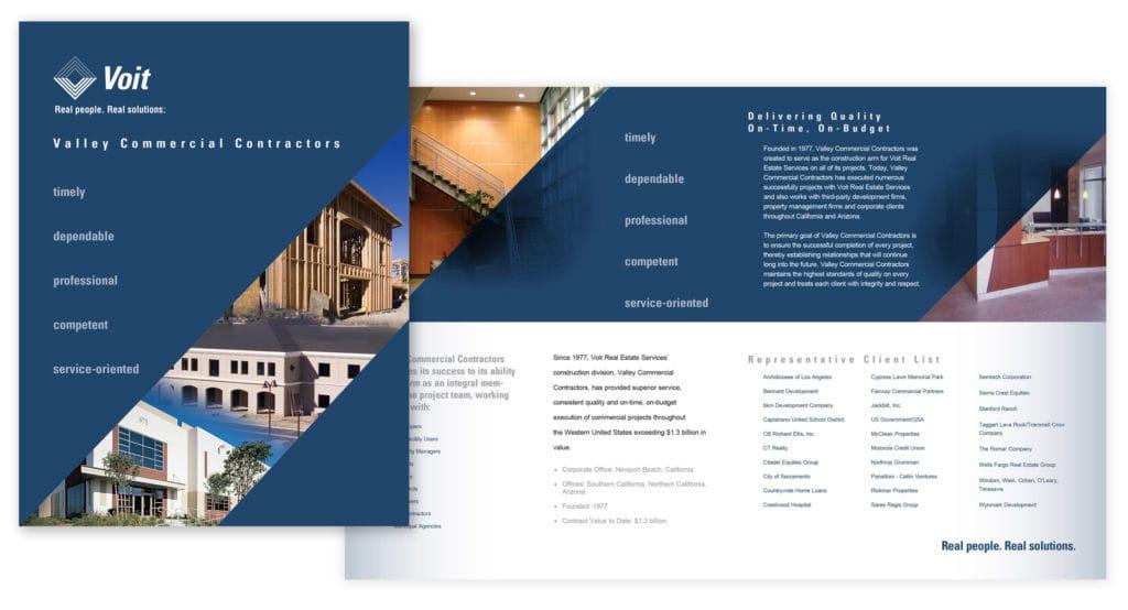 Brochure Design & Production – Voit